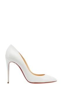 Белые лакированные туфли Pigalle Follies 100 Christian Louboutin