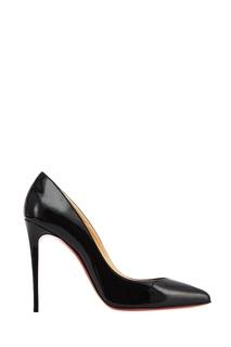 Черные лакированные туфли Pigalle Follies 100 Christian Louboutin