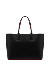 Черная кожаная сумка Cabata Christian Louboutin