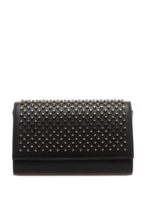 Черная сумка с шипами Paloma Clutch Christian Louboutin