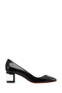 Черные лакированные туфли Provisore 55 Christian Louboutin