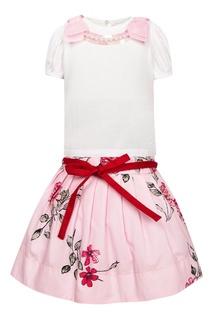 Комплект из топа и юбки с объемной отделкой Simonetta Mini