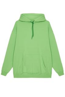 Зеленое худи из хлопкового микса Balenciaga