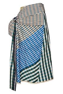 Комбинированная юбка с драпировкой Marni