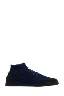 Синие кроссовки из джерси Fendi