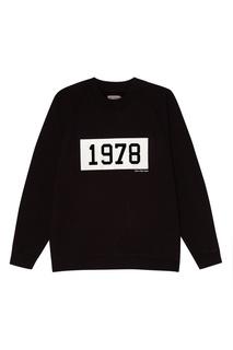 Черный хлопковый свитшот Calvin Klein