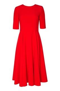 Красное расклешенное платье The Dress