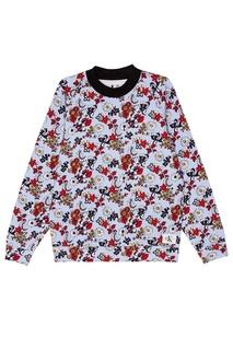 Хлопковый свитшот с цветами Calvin Klein