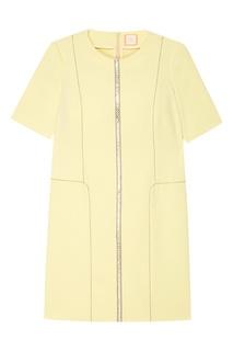 Желтое платье-футляр The Dress