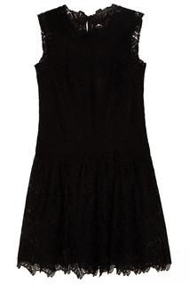 Черное кружевное платье Ermanno Scervino