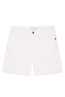 Белые шорты с вышивкой Ermanno Scervino