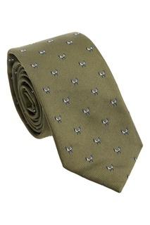 Зеленый галстук с жаккардовым узором Fendi
