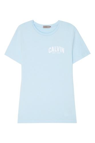 Голубая футболка с надписью
