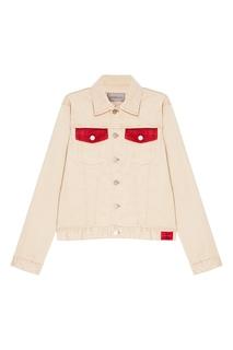 Бежевая куртка из денима Calvin Klein