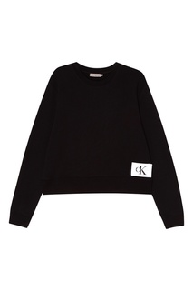Черный свитшот с нашивкой Calvin Klein