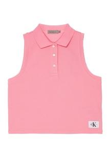 Розовый хлопковый топ Calvin Klein