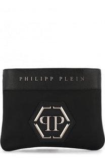 Текстильная сумка-планшет с кожаной отделкой Philipp Plein