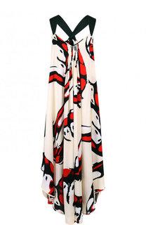 Платье-миди асимметричного кроя с принтом By Malene Birger