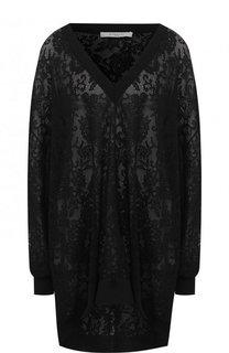 Однотонный вязаный пуловер с V-образным вырезом Givenchy