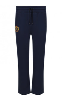 Хлопковые брюки прямого кроя с поясом на кулиске Burberry