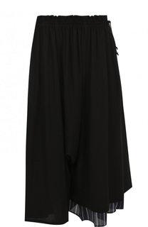 Укороченные брюки свободного кроя с эластичным поясом Yohji Yamamoto