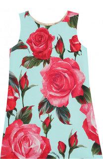 Мини-платье A-силуэта с принтом Dolce & Gabbana