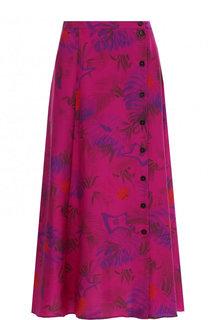 Шелковая юбка-миди с принтом Zadig&Voltaire Zadig&Voltaire