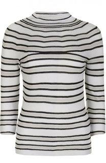 Приталенный вязаный пуловер с ложным воротником Giorgio Armani