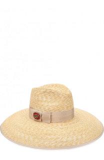 Соломенная шляпа с лентой Gucci