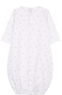 Хлопковая пижама на кнопках с принтом Kissy Kissy