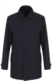 Однобортное пальто на молнии с подстежкой Z Zegna