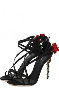 Текстильные босоножки Keira на шпильке Dolce & Gabbana
