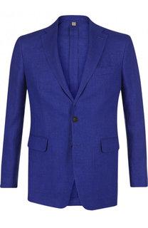 Однобортный льняной пиджак Burberry