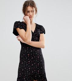 Чайное платье с цветочным принтом Daisy Street - Черный