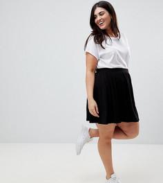Короткая расклешенная юбка ASOS DESIGN Curve - Черный