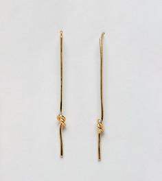 Позолоченные серьги ASOS DESIGN - Золотой