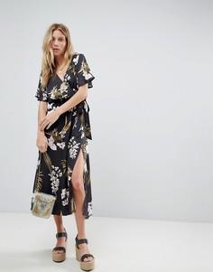 Платье макси с цветочным принтом и запахом Minkpink - Мульти