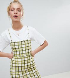 Клетчатое платье на бретельках в стиле 90-х Daisy Street - Желтый
