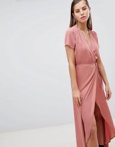 Чайное платье с запахом Hope & Ivy - Розовый