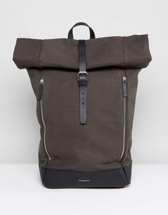 Рюкзак с закатанным верхом Sandqvist Marius - Зеленый