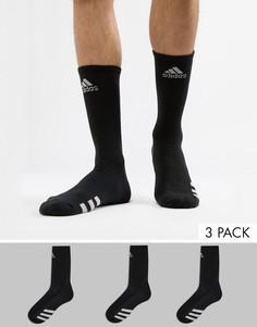 3 пары черных носков adidas Golf CF8419 - Черный
