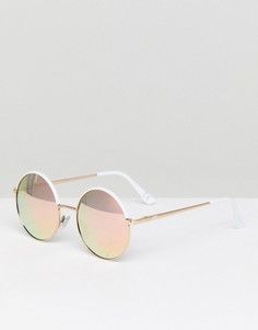 Солнцезащитные очки с зеркальными стеклами Vans - Белый