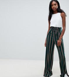 Широкие брюки в полоску со шнуровкой ASOS DESIGN Tall - Мульти