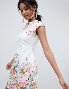 Свободное платье мини с цветочным принтом ASOS DESIGN - Мульти