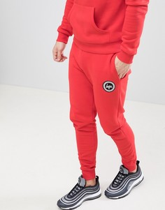 Красные джоггеры скинни с логотипом Hype - Красный