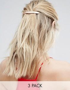 Три заколки для волос Johnny Loves Rosie - Золотой
