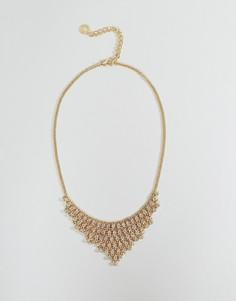 Ожерелье с подвесками из камней Johnny Loves Rosie - Золотой