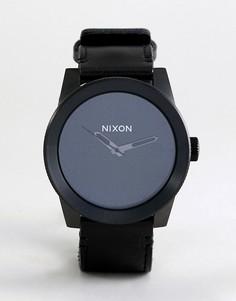 Часы с кожаным ремешком Nixon A243 Corporal - Черный
