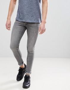 Серые джинсы скинни Hoxton Denim - Серый