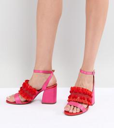 Босоножки на блочном каблуке с вышивкой ASOS DESIGN - Мульти